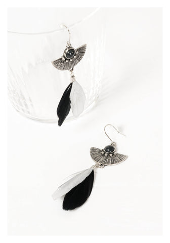 Engraved Feather Earrings - whoami