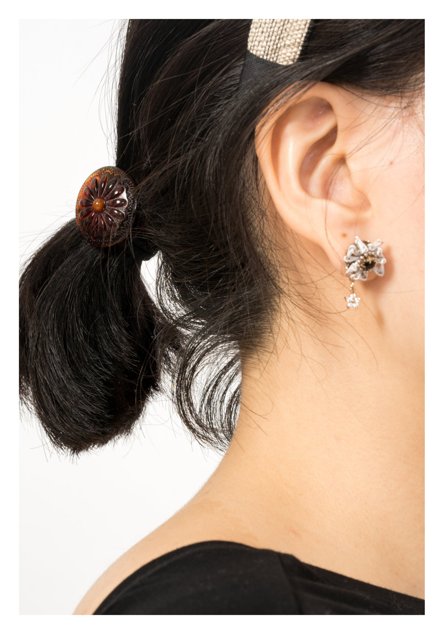 Engraved Resin Hairband Brown - whoami