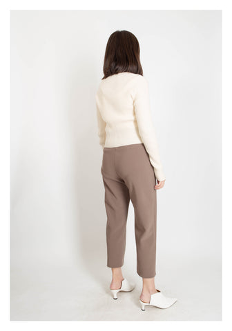 Essential Ankle Length Pants Camel - whoami