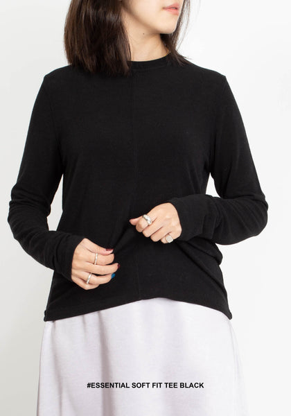 Essential Soft Fit Tee Black - whoami