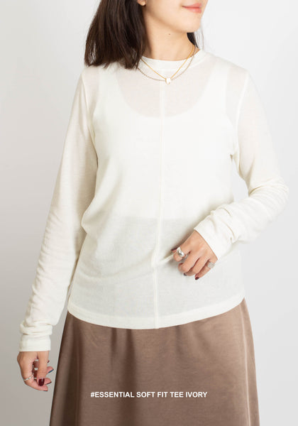 Essential Soft Fit Tee Ivory - whoami