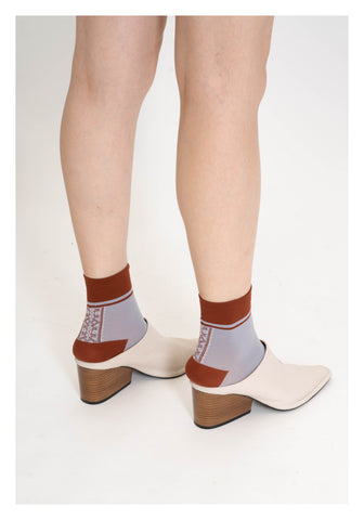 Ethnic Pattern Socks Brick - whoami