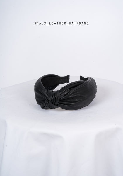 Faux Leather Hairband