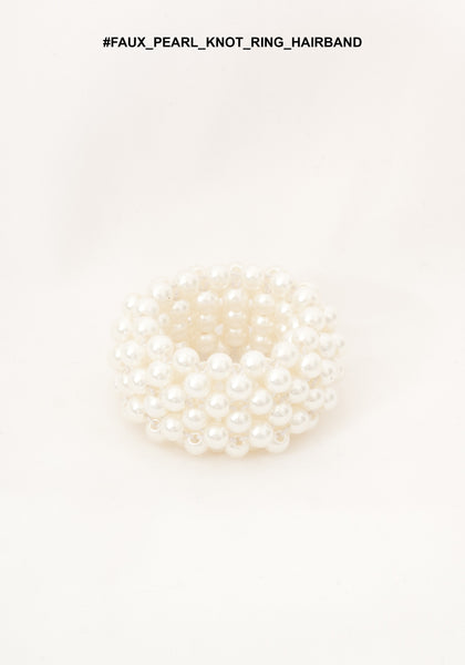 Faux Pearl Knot Ring Hairband
