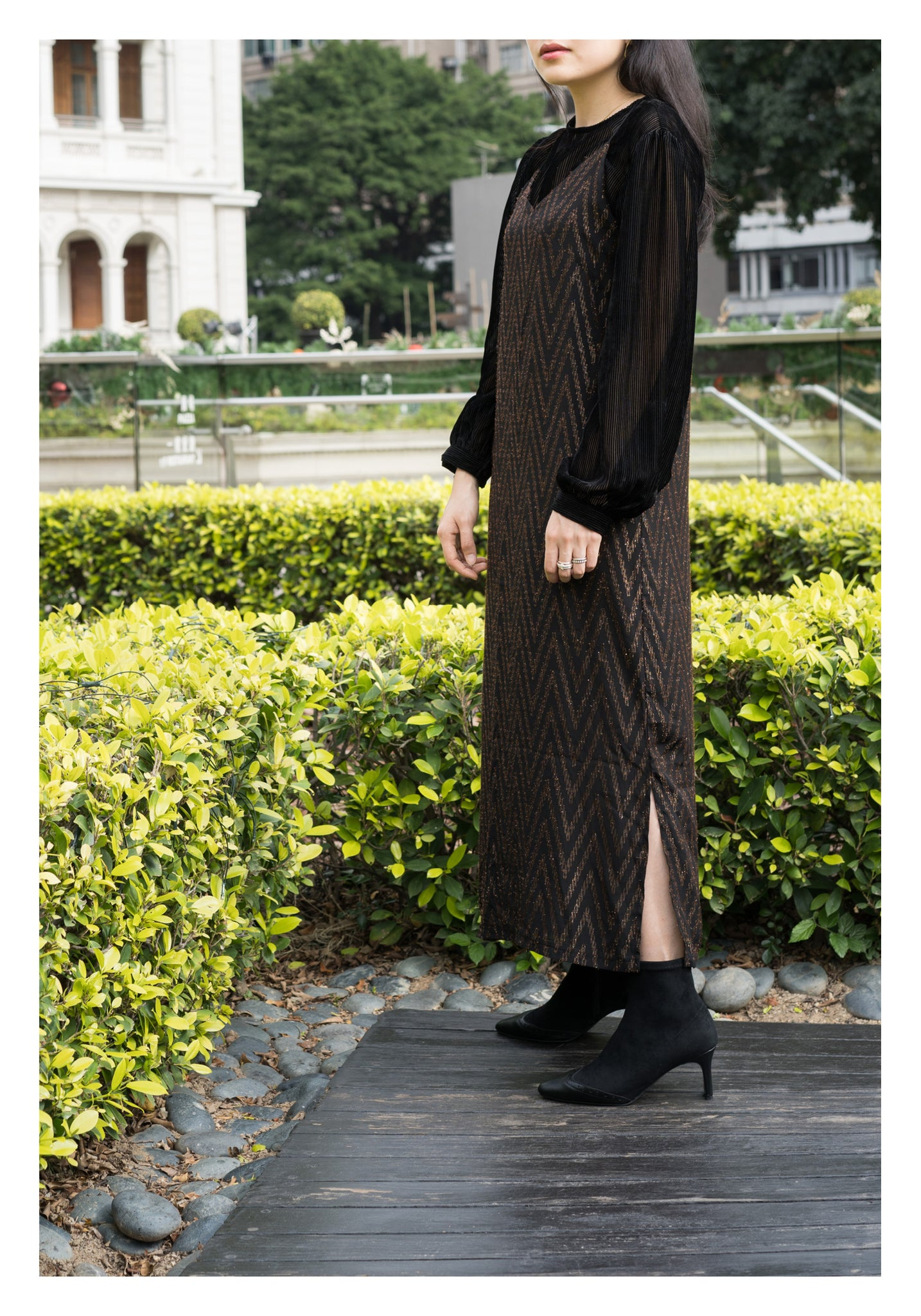 Fil Coupe V Vest Dress Black - whoami