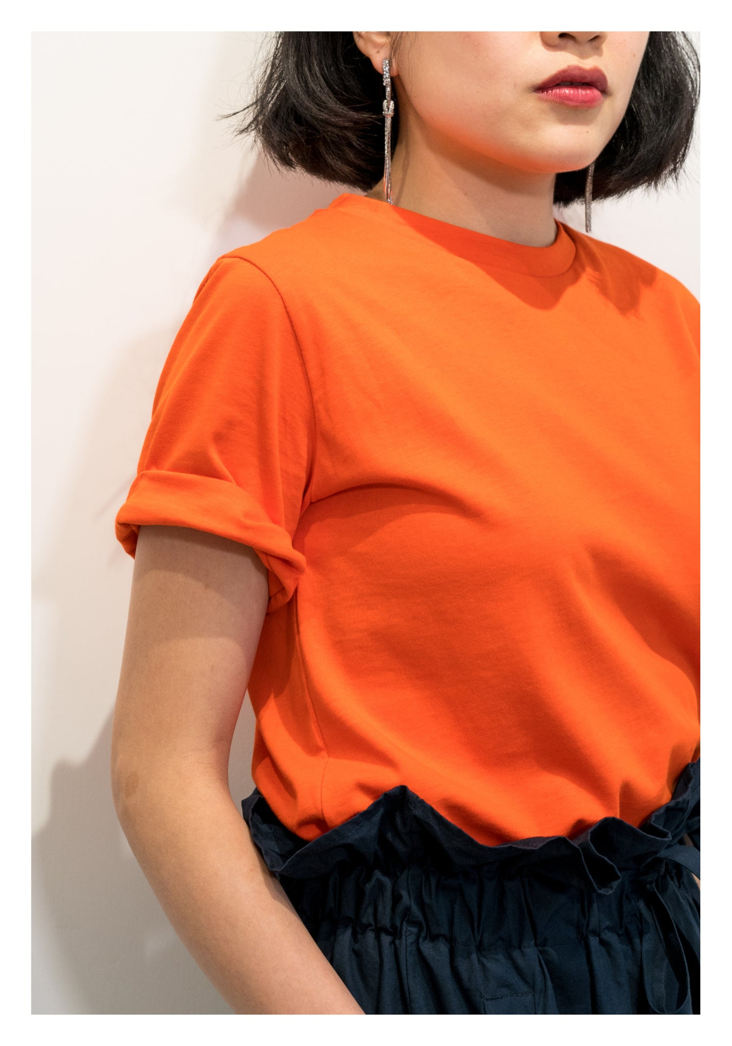 Fit Cut Basic Tee Orange