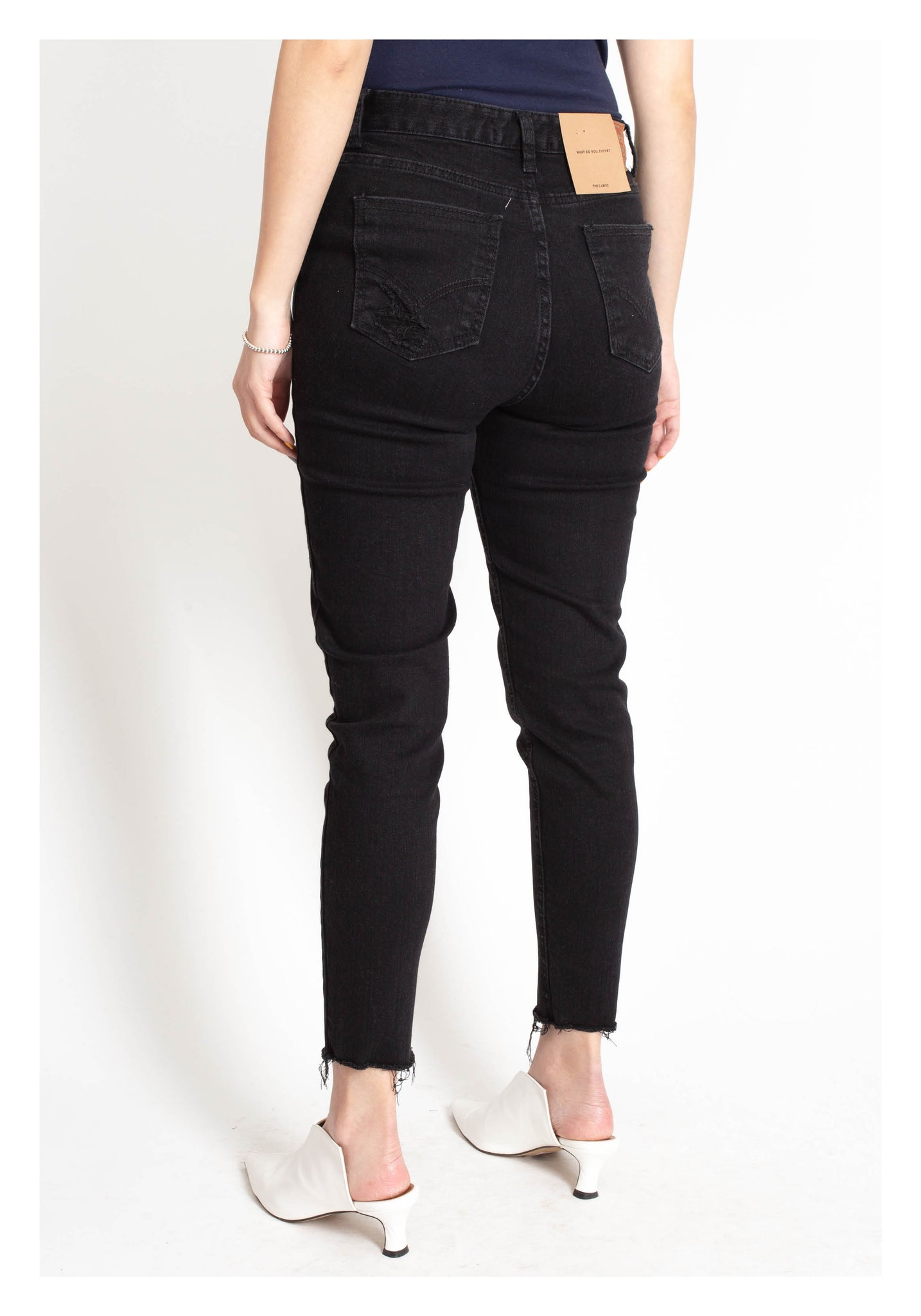 Fleece Skinny Jeans Black - whoami