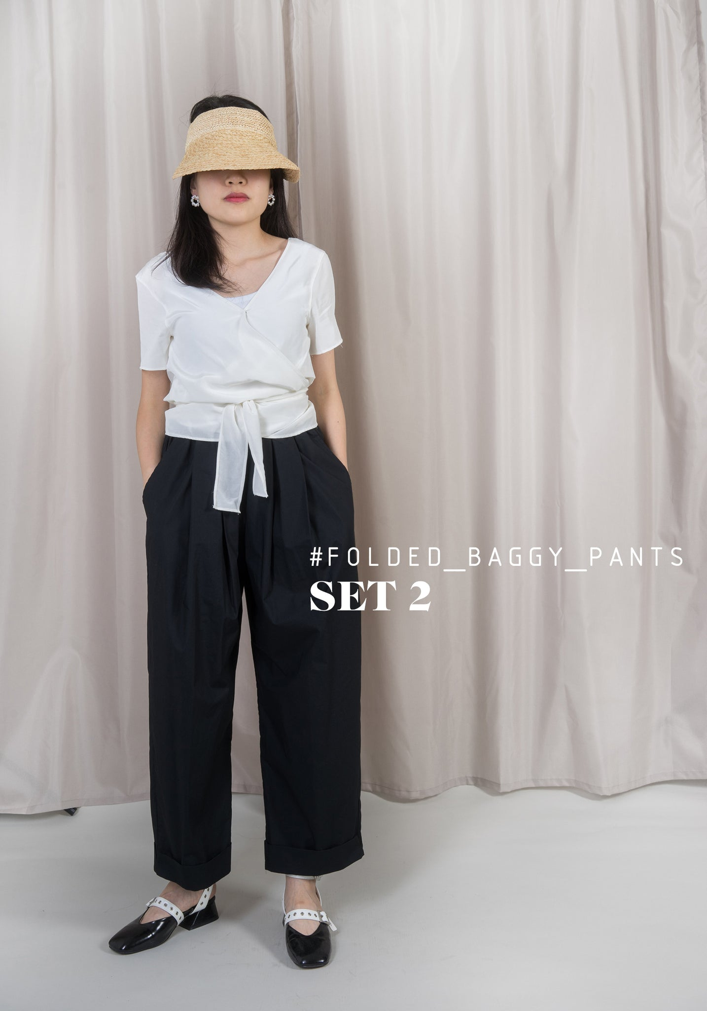 Folded Baggy Pants Set 2