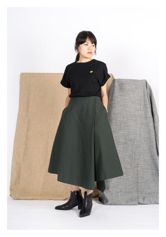 Folded Irregular Edge Dark Green