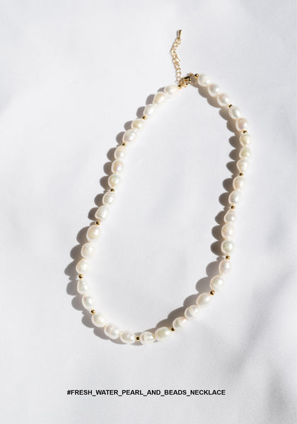 Fresh Water Pearl And Beads Necklace - whoami