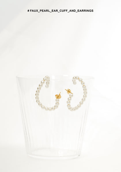 Faux Pearl Ear Cuff And Earrings - whoami
