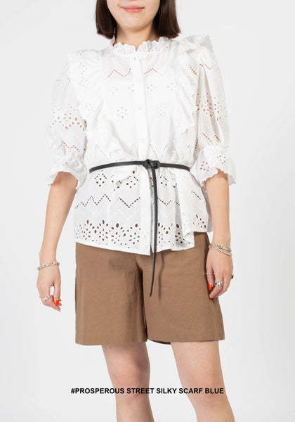Favourite Eyelet Blouse White