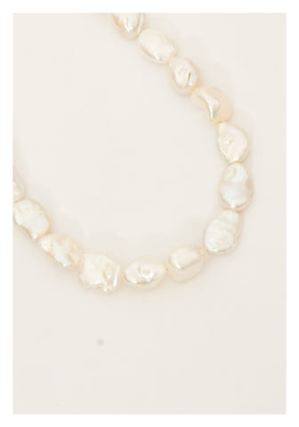 Flat Baroque Pearl Necklace