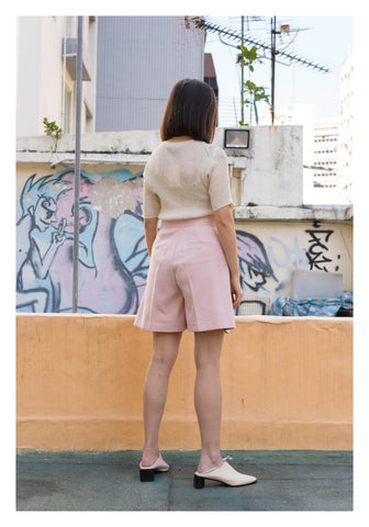 Fold Suit Shorts Pink - whoami