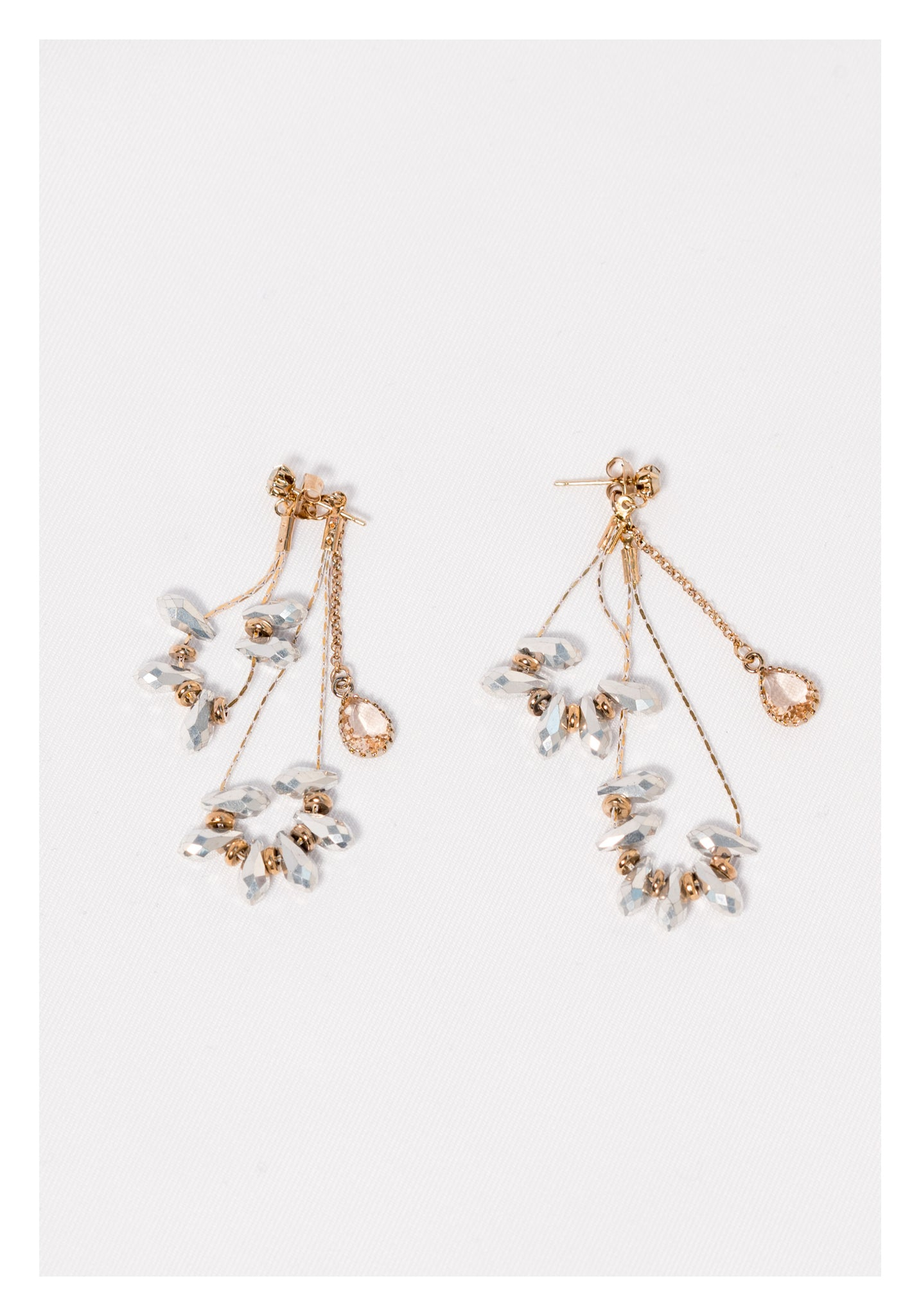 Gem And Chain Layer Earrings - whoami