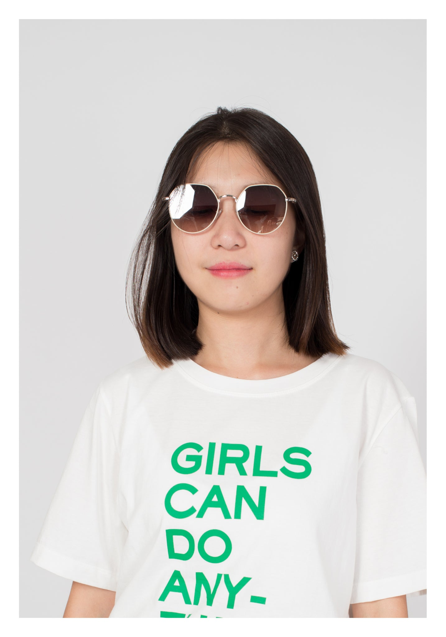 Girls Can Do Anything Tee White