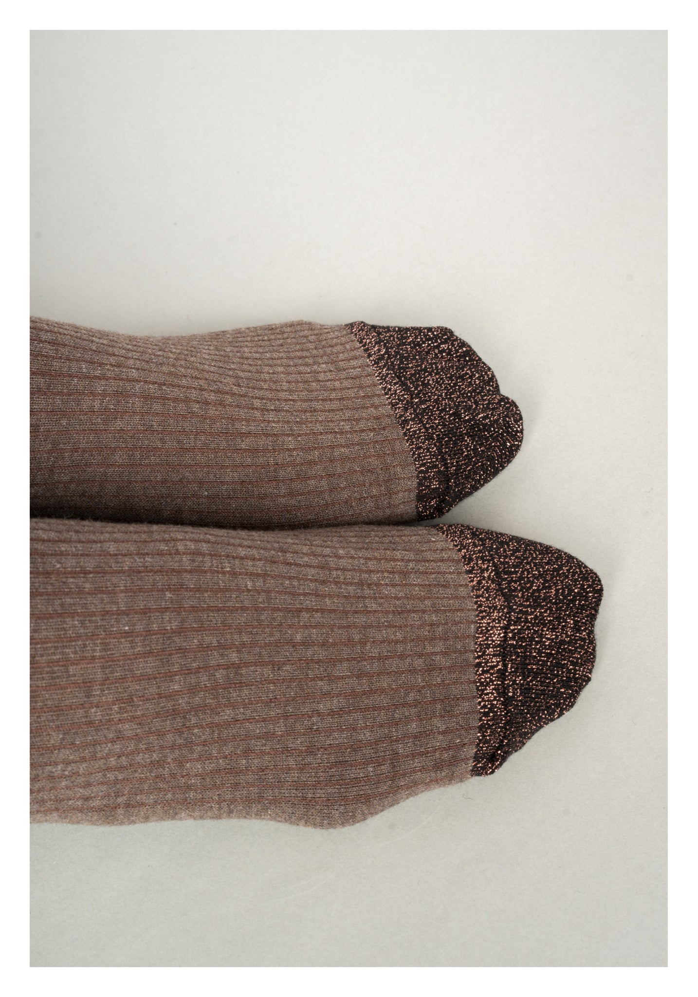 Glitter Hem Socks Copper
