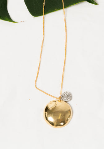 Golden Shortbread Pendant Necklace