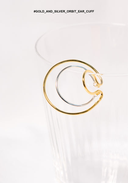 Gold And Silver Orbit Ear Cuff