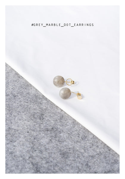 Grey Marble Dot earrings