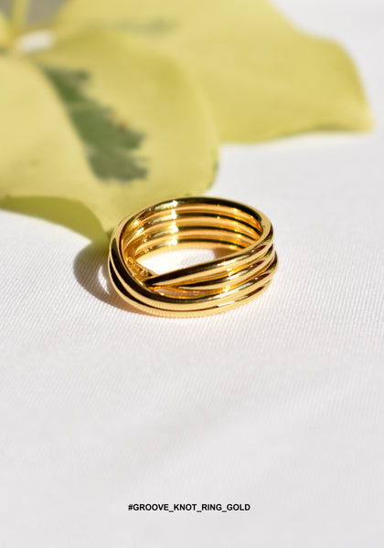 Groove Knot Ring Gold - whoami