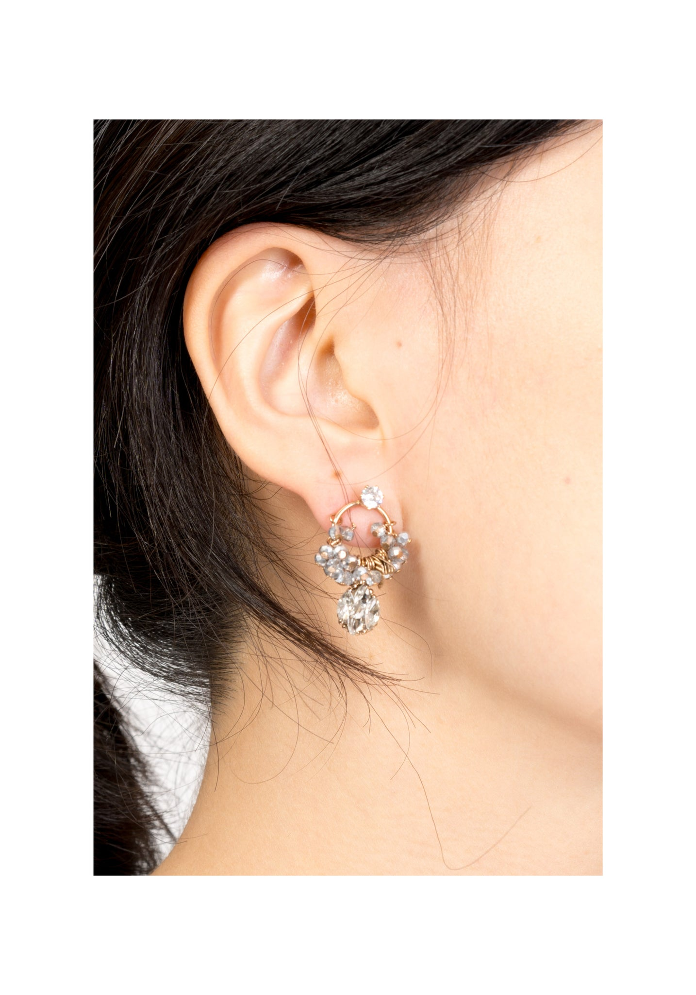 Sparkle Gem Ring And Pendant Earrings - whoami
