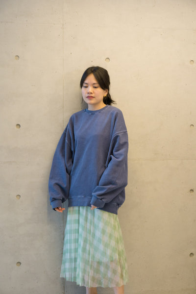 Oversize Thin Sweater Navy