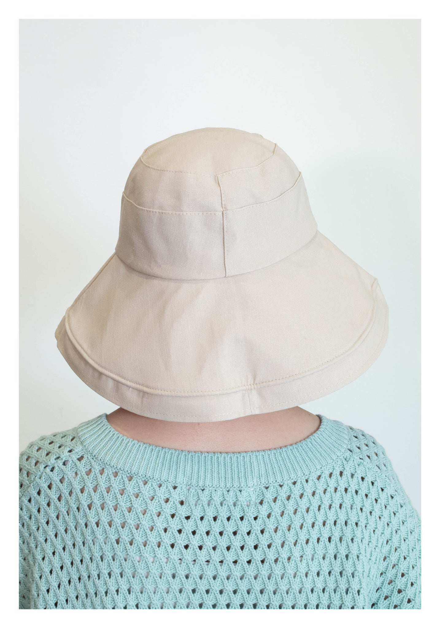 Wide Hem Buckle Hat Ivory - whoami