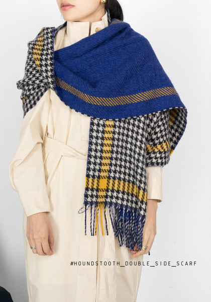Houndstooth Double Sides Scarf