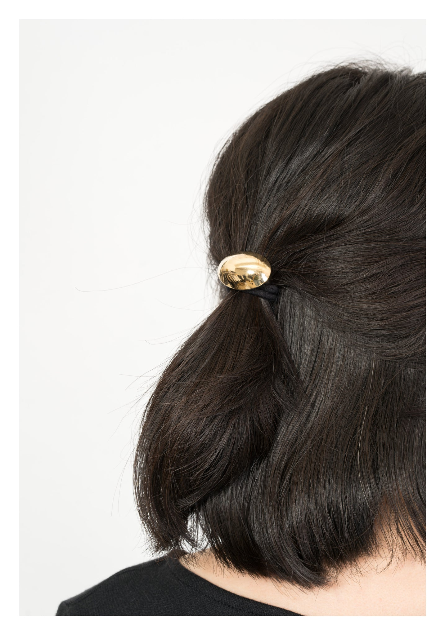 Half Round Ellipse Hairband Gold - whoami