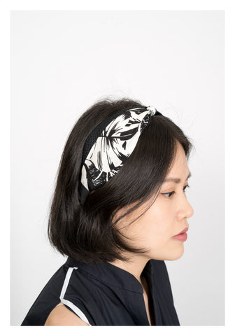 Hawaii Floral Pattern Hairbnd Black