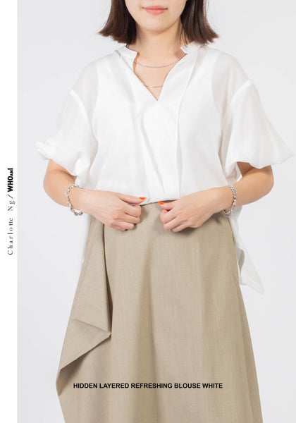 Hidden Layered Refreshing Blouse White