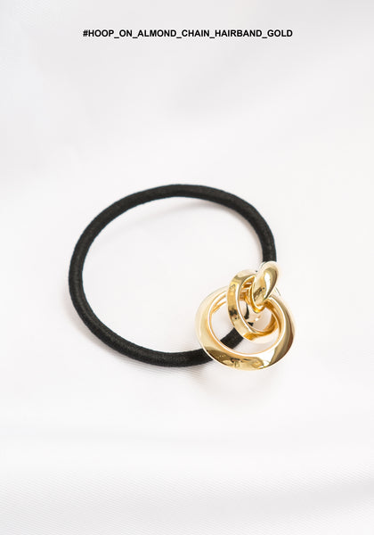 Hoop on Almond Chain Hairband Gold - whoami