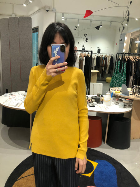 Soft Essential Knit Top Yellow - whoami