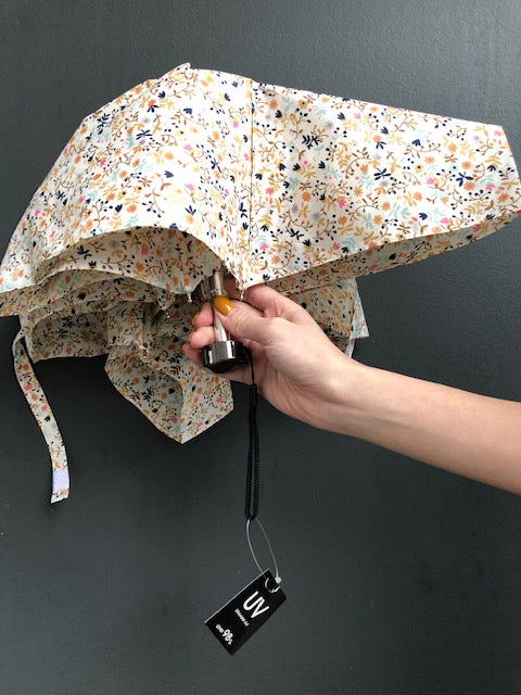 Floral Light UV Umbrella White - whoami