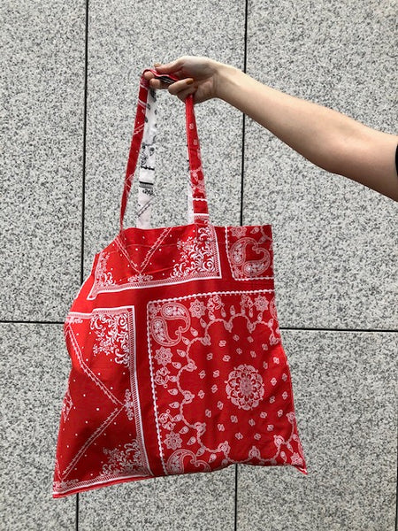 Paisley Pattern Tote Bag Red - whoami