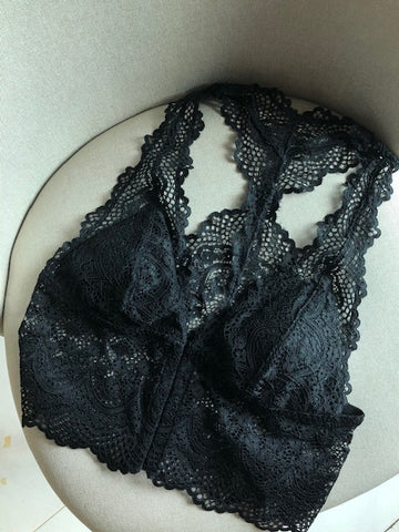 Y Lace Back Bra Top