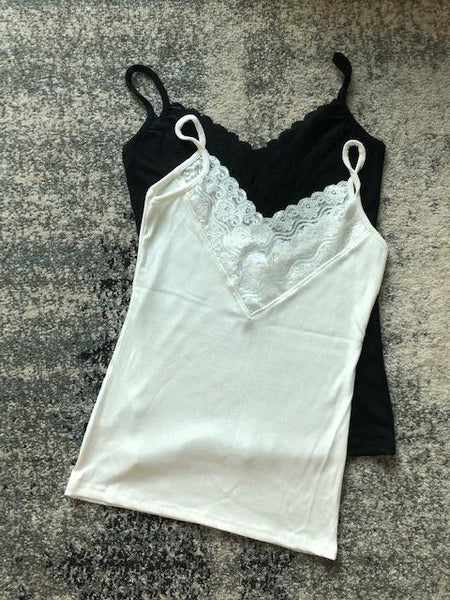 Double V Lace Edge Vest