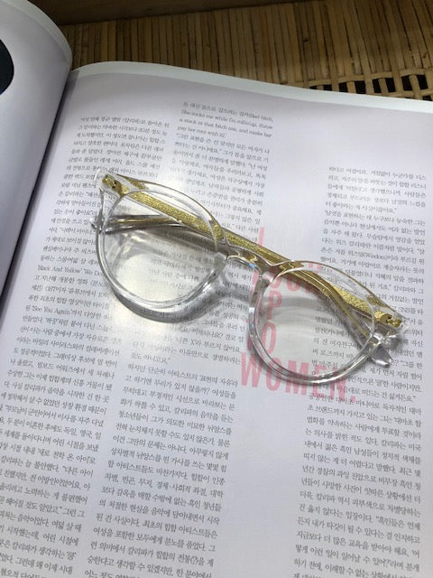 Side Golden Transparent Glasses - whoami