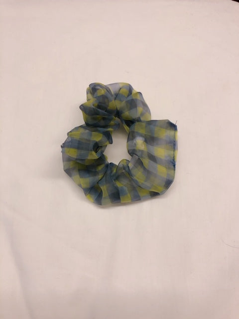 Sheer Checker Hairband Yellow - whoami