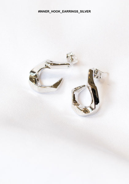 Inner Hook Earrings Silver