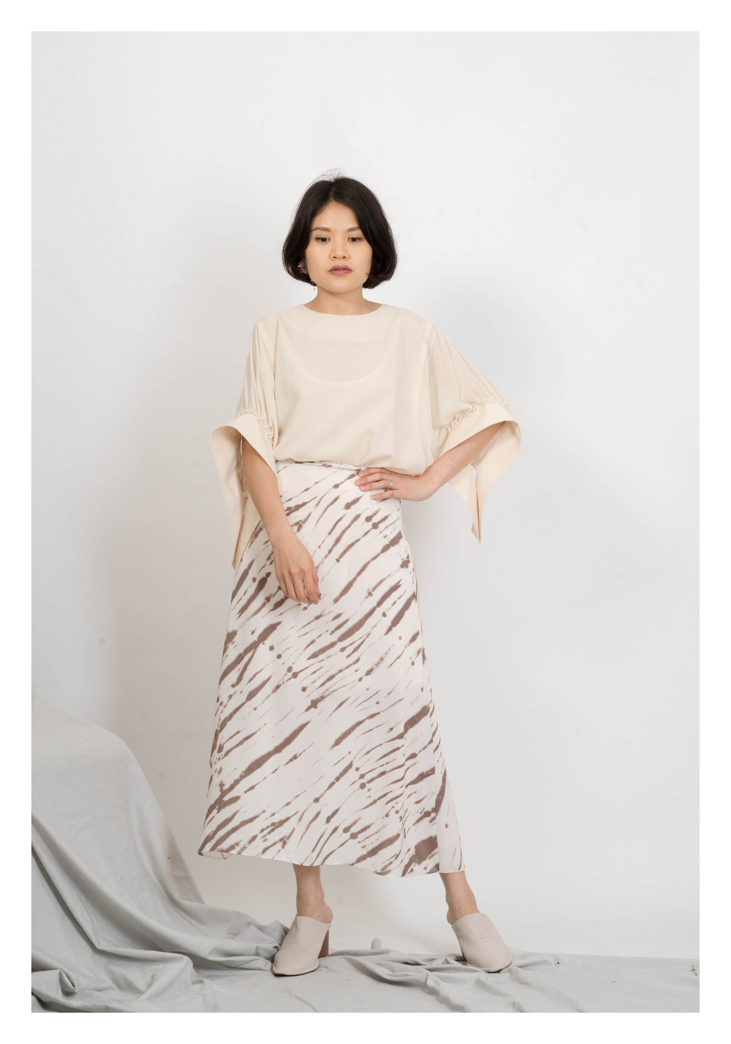 Inky Soft Skirt Brown - whoami