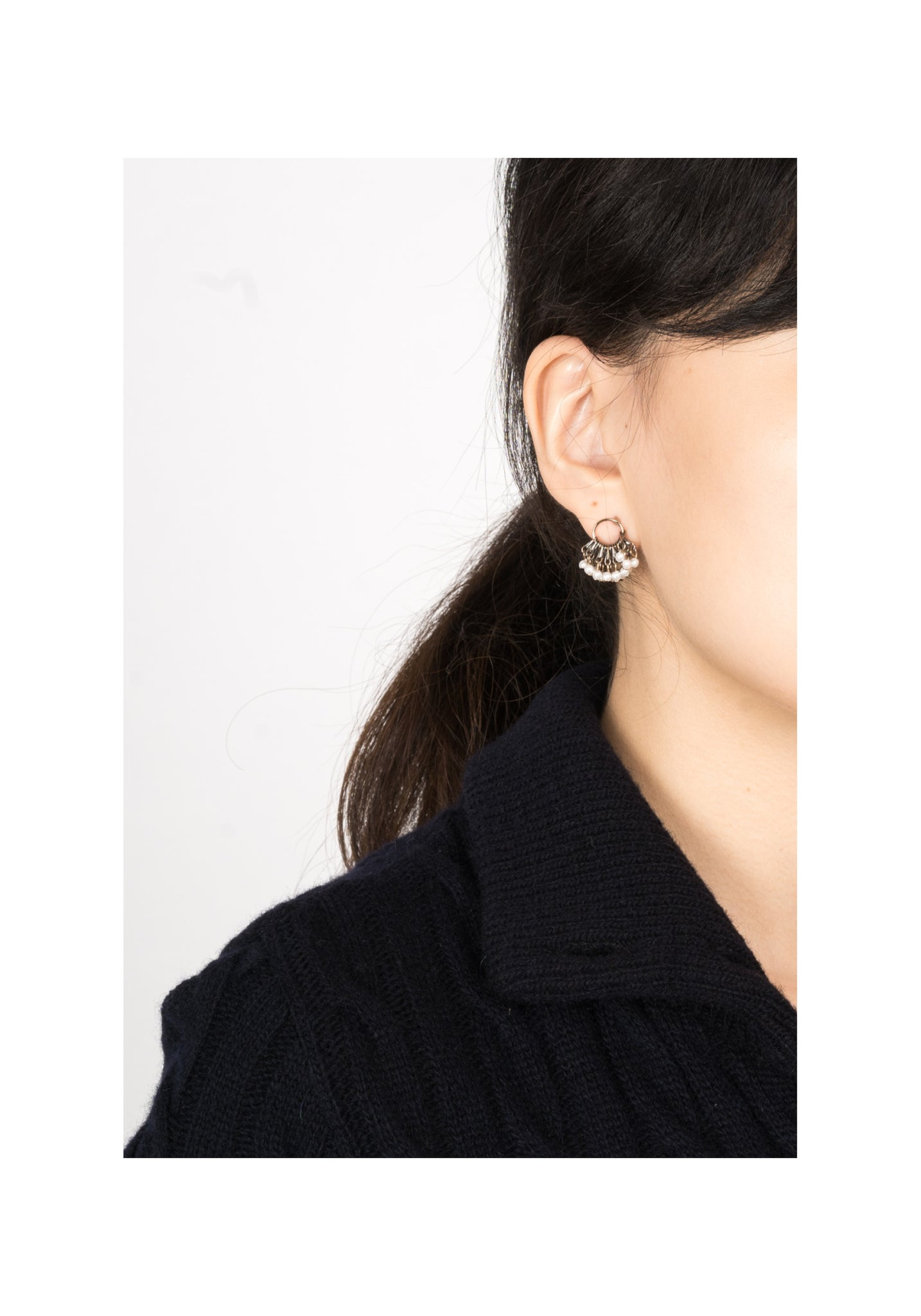 Chain And Pearls Mini Tassel Earrings - whoami