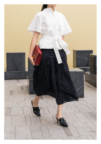 Kaia Tiered Skirt Black