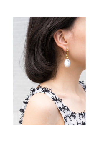 Bold Baroque Pearl Dripping Earrings - whoami