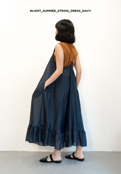 Light Summer String Dress Navy