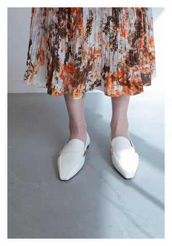 Side Metal Loafer White - whoami