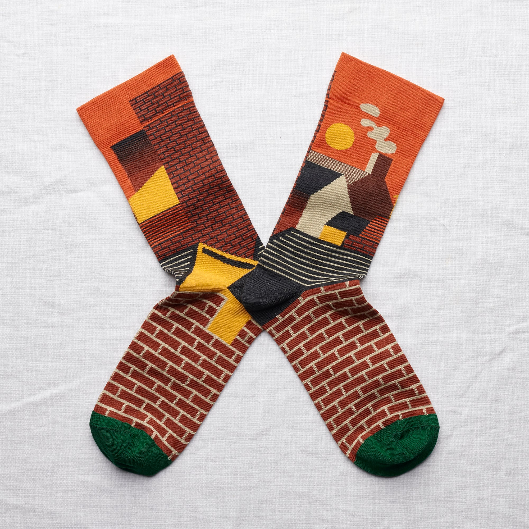 Labyrinthe City Sock Orange - whoami
