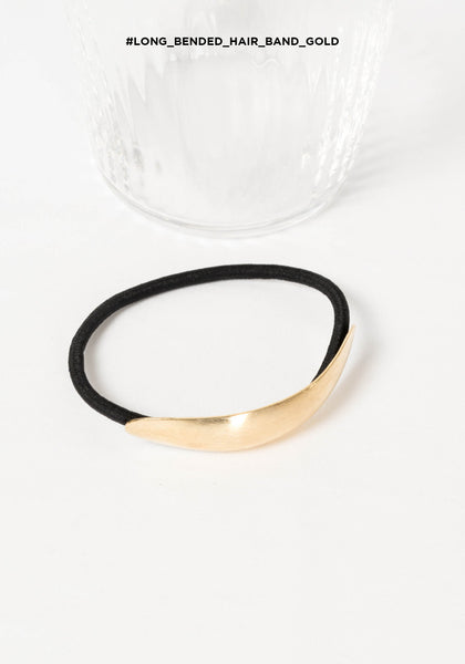 Long Bended Hair Band Gold - whoami