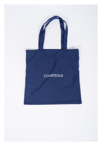Message Tote Bag Blue - whoami